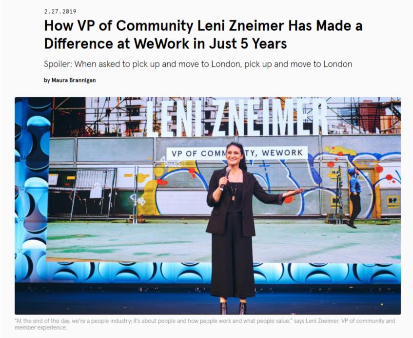 VP of Community Leni Zneimer