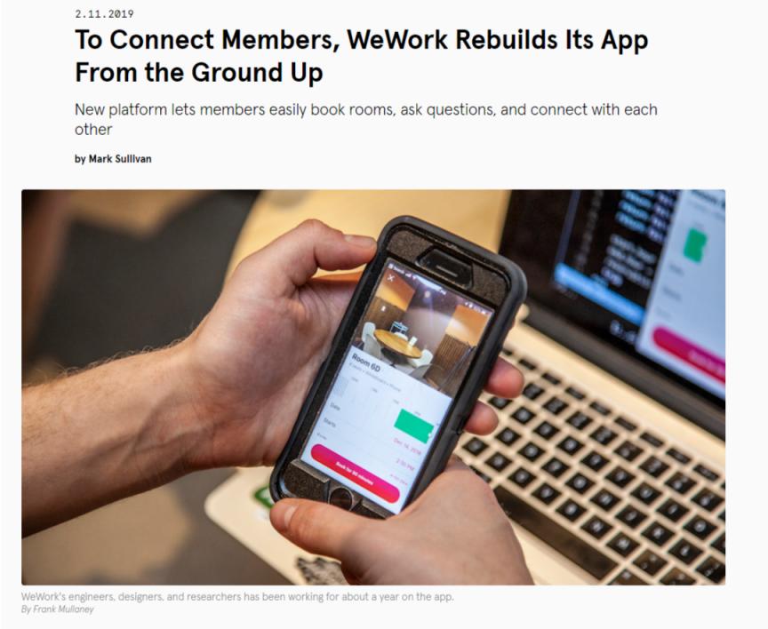WeWork Rebuilds Its App - WeWork